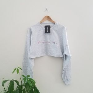 NWT Pretty Little Thing Cropped Sweatshirt